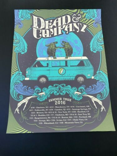 Dead and Company Poster Summer 2016 rare Artist Edition of 150 Grateful Dead