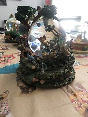 """Disney Bambi """"Little April Flowers"""" Musical Snow Globe with Motion"""