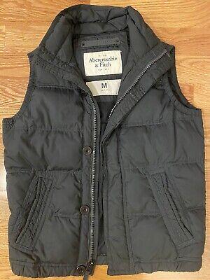 Abercrombie & Fitch Mens Down Vest Size M Black