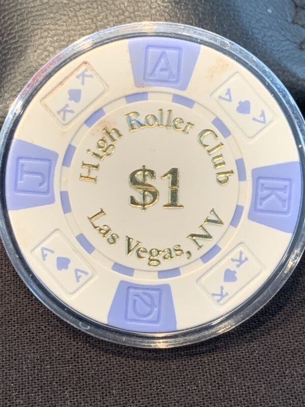 HIGH ROLLER CLUB CASINO CHIP $1 LAS VEGAS NEVADA POKER BLACKJACK