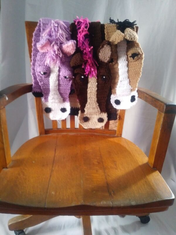 Crocheted Winter Scarf Horse