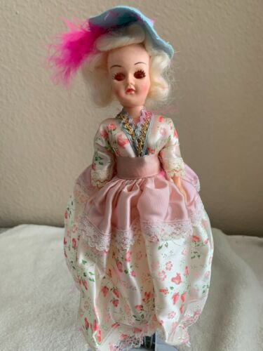 """Vintage Arco Doll American Colonial Dolls of the World Plastic 7"""""""