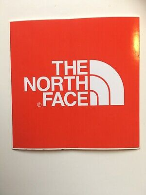 Genuine The North Face Logo Promo Sticker 75mm x 75mm Perfect For Van