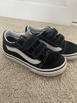 Black and White Vans infant Toddler Size 8