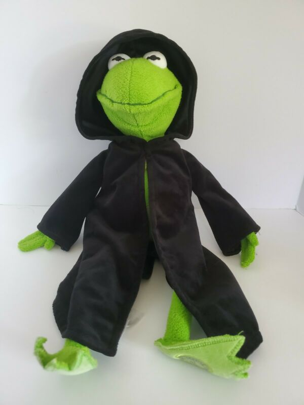 "Kermit the Frog Constantine Black Cape 17"" Plush Stuffed Animal - Disney Store"