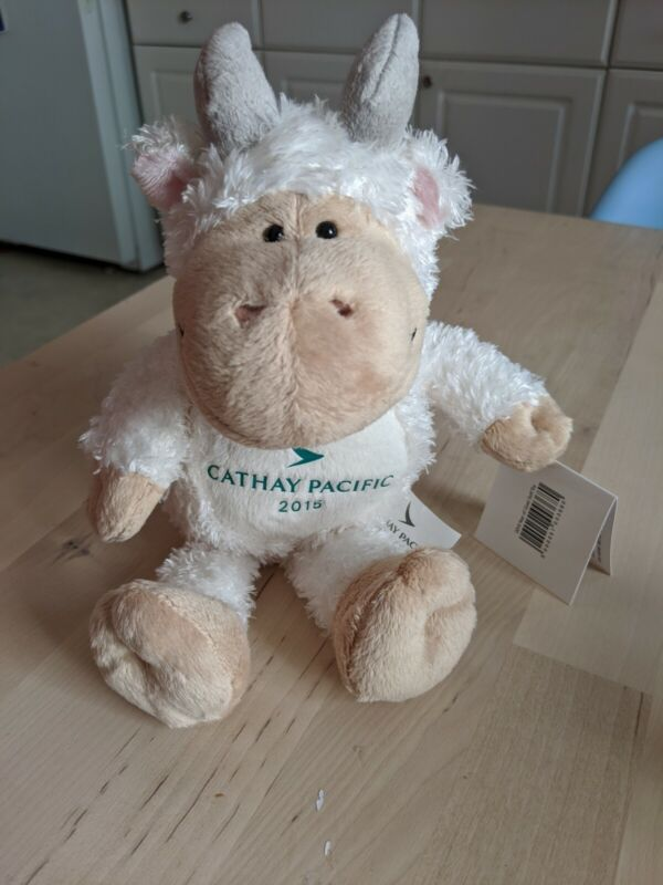 Cathay Pacific Airways Collectible Year Of The Ram Sheep Plush Zodiac 2015