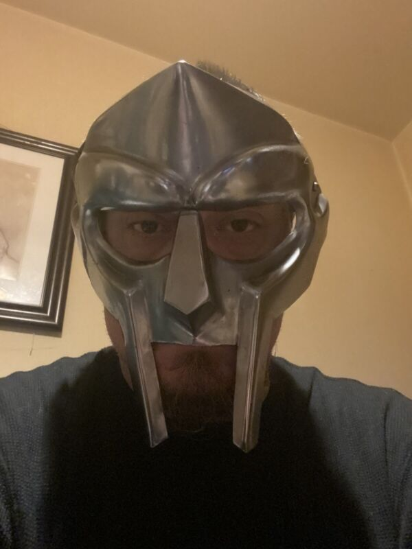 Large MF Doom Gladiator Mask Madvillain Heavy Steel Face Armor Replica New Decor