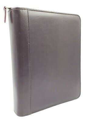 Monarch Franklin Coveyquest Brown Leather 7 Rings Zip Plannerbinder