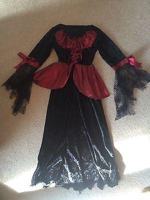 Girls Costume Dress Halloween Gothic Horror Age - Halloween Costumes For Girls Age 9