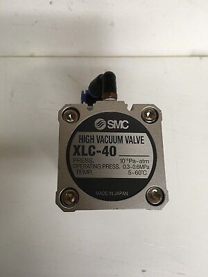 Smc Xlc-40 High Vacuum Pneumatic Bellows Valve Kf40 Flange Rebuilt