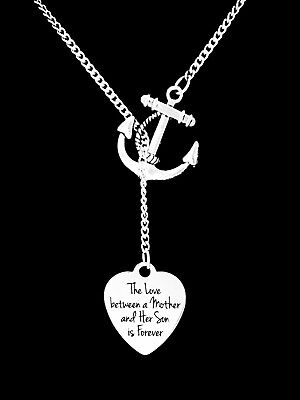 Necklace The Love Between A Mother And Her Son Is Forever Anchor Lariat Gift - Anchor Gifts