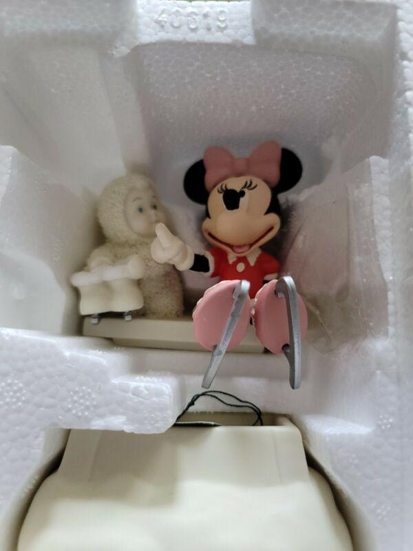 Dept. 56 Snowbabies Disney Minnie and Me Skating  2003 56.69992