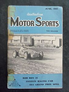 AUSTRALIAN MOTOR SPORTS MAGAZINE JUNE 1951 RARE ITEM !!!