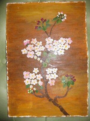 Selbstgemaltes Ölbild, Blumen, 31 x 25 cm ohne Rahmen aus Nachlass