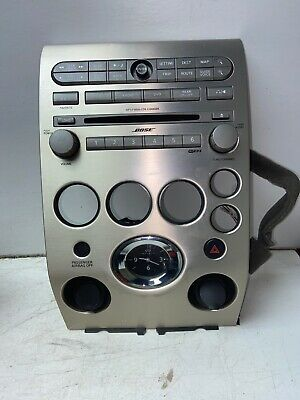 ** 2004-2006 Infiniti QX56 CD SAT Radio Player Climate Control Bezel BOSE X1112 Silver Desktop Receivers