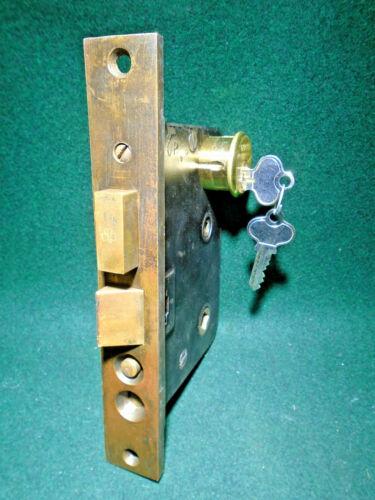 "LOCKWOOD T-5000 ENTRY MORTISE LOCK w/CYLINDER & KEYS - 2 3/4"" BACKSET (15272)"
