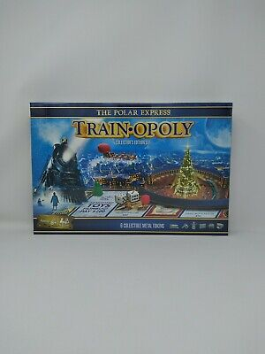 Polar Express Train-Opoly Board Game Christmas COLLECTOR'S EDITION SET New