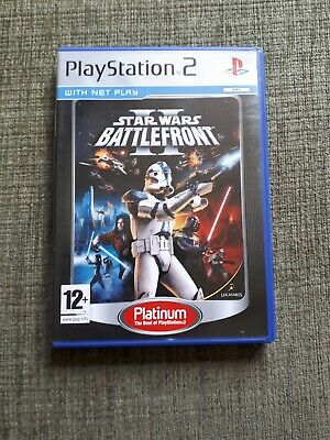 PS2 Star Wars : Battlefront II PAL complete with manual and in good condition .
