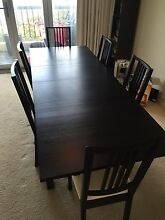 Dining table (adjustable length) + 6 chairs Cottesloe Cottesloe Area Preview