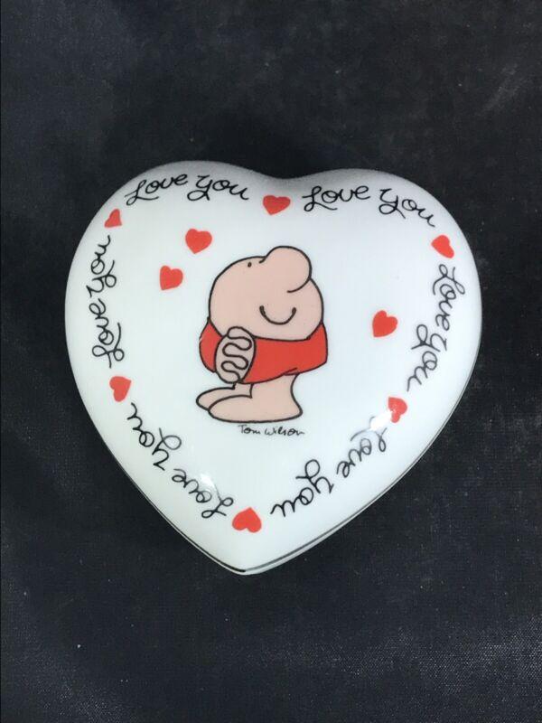 Ziggy Love Talk Fine Porcelain Trinket Box 1980 Love You