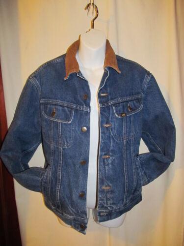Vintage Lee Stormrider Men's 36 R Blanket Lined Jean Jacket STORM RIDER