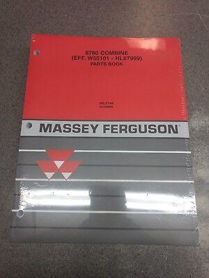 Massey Ferguson 8780 Combine Parts Manual 651696m99