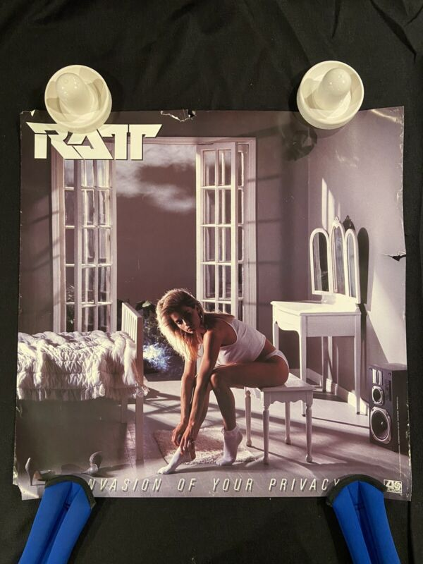 RATT  Invasion Of Your Privacy  rare original promotional poster 24 X 24