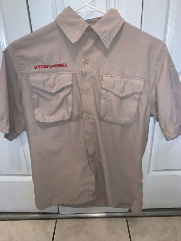 Vented Microfiber Poly Boy Scout BSA UNIFORM SHIRT Youth Large New Style K65