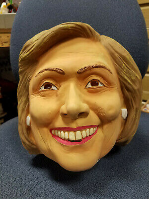 Hillary Clinton Latex MASK ONLY Halloween Party Democrat Political Election 2016](Clinton Halloween Party)