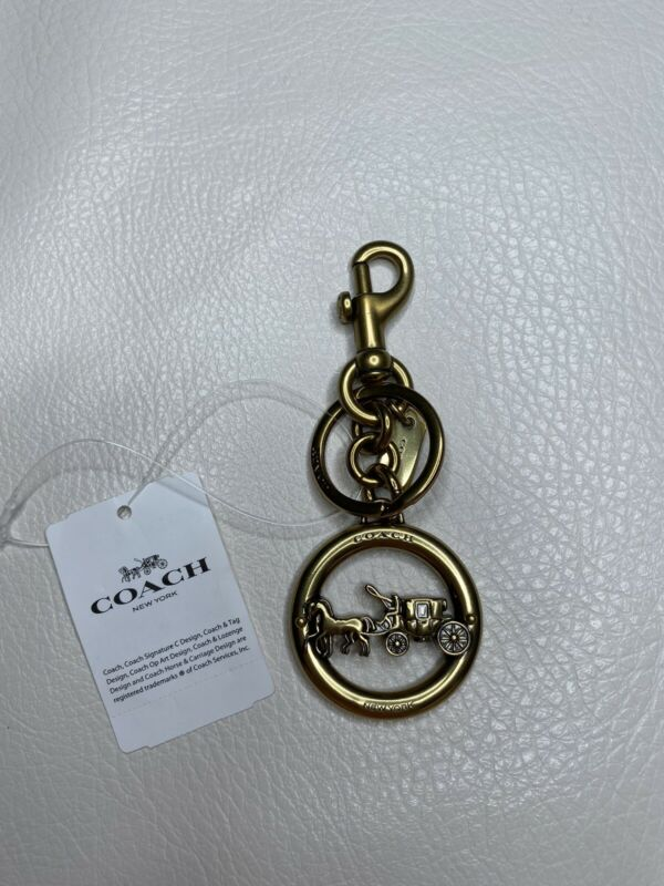 Coach Horse And Carriage Pendant Bag Charm Key Fob $60