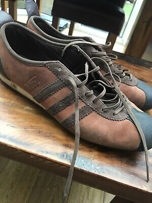 Adidas Vintage Brown Cross Trainers Rare Casual Uk 10.5