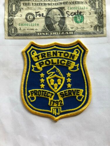 Trenton New Jersey Police Patch un-sewn in Great Shape