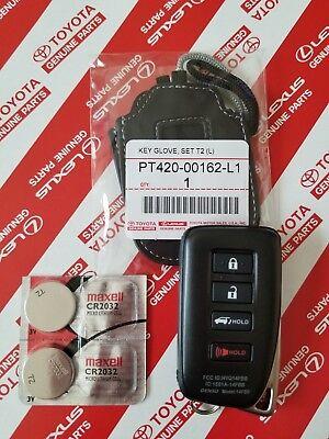 Remote Jacket - OEM LEXUS LEATHER SMART KEY CASE 2 COVERS REMOTE & BATTERIES PROTECTIVE JACKET