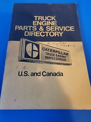 1975 Caterpillar Vintage Truck Engine Parts Service Directory Us And Canada