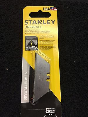 STANLEY, 5 REPLACEMENT BLADES, Drywall Heavy Duty, UTILITY B