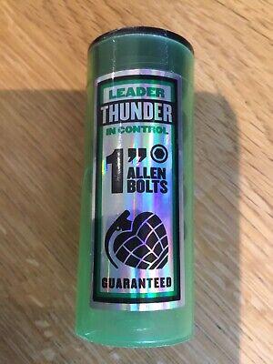 """Thunder Skateboard Trucks Bolts 1"""" Black Green Allen Key New"""