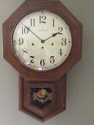Hamilton Octagon School House Westminster Chime Wall Clock