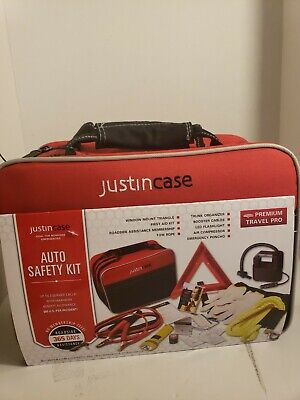 Justin Case Professional Auto Safety Kit - Ideal for Roadside Emergencies