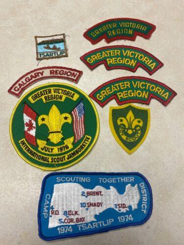 Lot of Canadian Boy Scout Patches - Greater Victoria Calgary Tsartlip