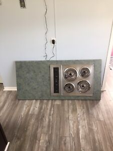 Island top with stove top
