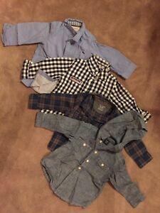 Chemises manches longues 12 mois