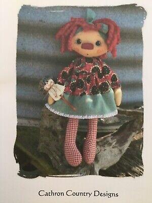 PATTERN Raggedy Ann Doll & Snowman Doll Ornie UNCUT OOP Cathron Country RARE