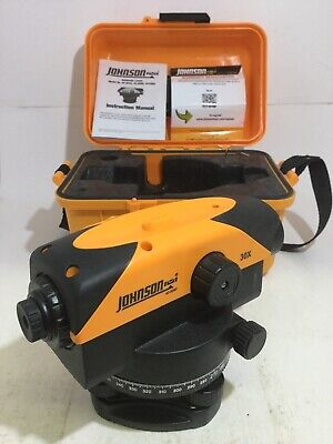Johnson Model 40- 6960 Automatic Levels Optical Level 30x Measuring Tool W Case