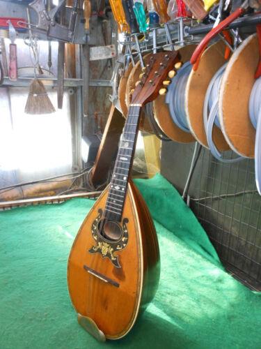 Vintage 1893 Nightingale Mandolin & Case w Rare Sound Hole