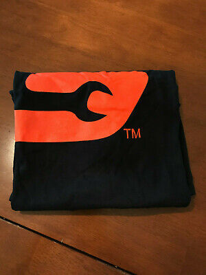 NOS Snap On Tool T-shirt Tee Cotton Black Crew Neck Jersey Casual Top Orange log