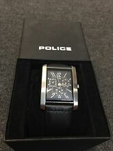 Police Stainless Steel Leather Band Calendar Day Date Men Watch Hawthorn Boroondara Area Preview