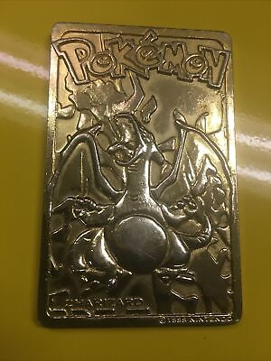 Vintage Pokemon Limited Edition 1999 Charizard 23K Gold Plated Trading Card BK