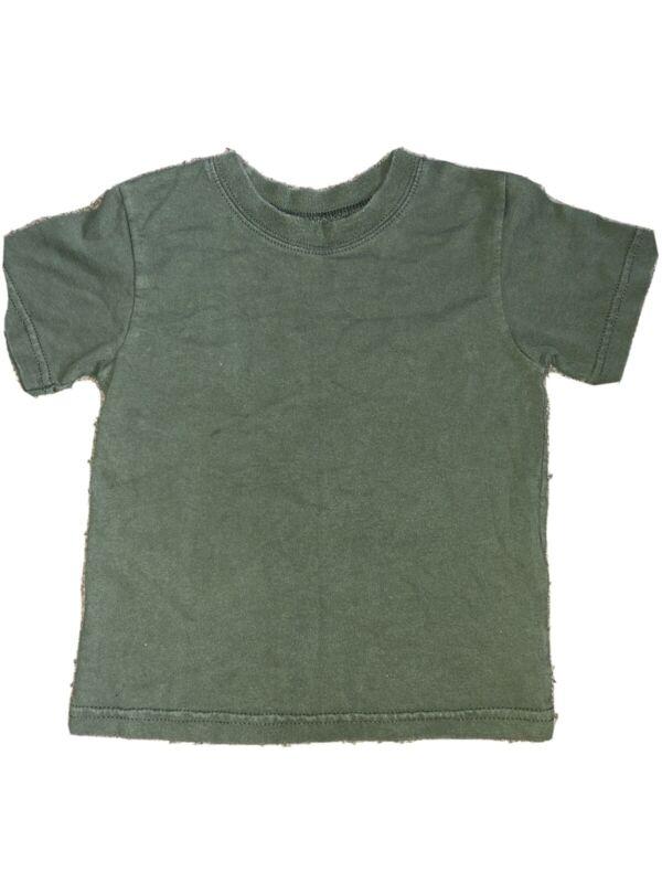Boy's Garanimals Army Green Short Sleeve Tee Shirt Top  Size 3T