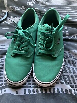Vans ATWOOD Canvas Trainers UK10 Green