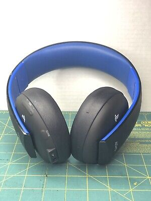 Sony Playstation Gold Wireless Stereo Black PS4 HEADSET ONLY NO DONGLE